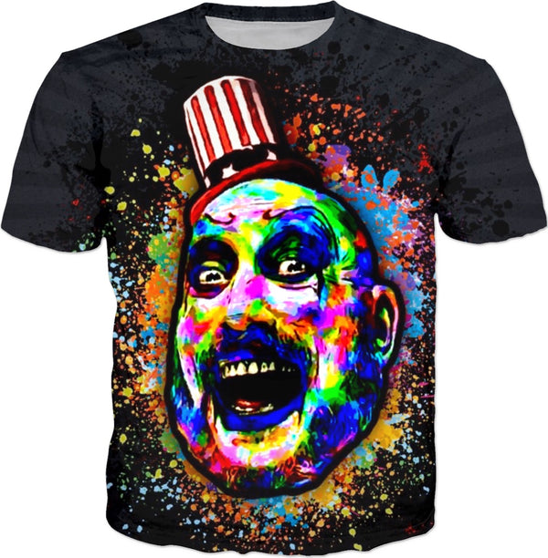 Captain Spaulding Halloween Party - JohnnyAppz , Captain Spaulding Halloween Party, T-Shirts