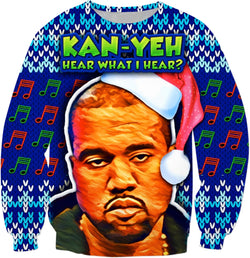 Kan Yeh Hear What I Hear? - Christmas Sweater - JohnnyAppz , Kan Yeh Hear What I Hear? - Christmas Sweater, Sweatshirts