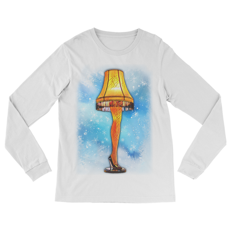 The Leg Lamp - A Christmas Story (Many Colors) - JohnnyAppz , The Leg Lamp - A Christmas Story (Many Colors), A-884 Womens Long-Sleeve-Shirts