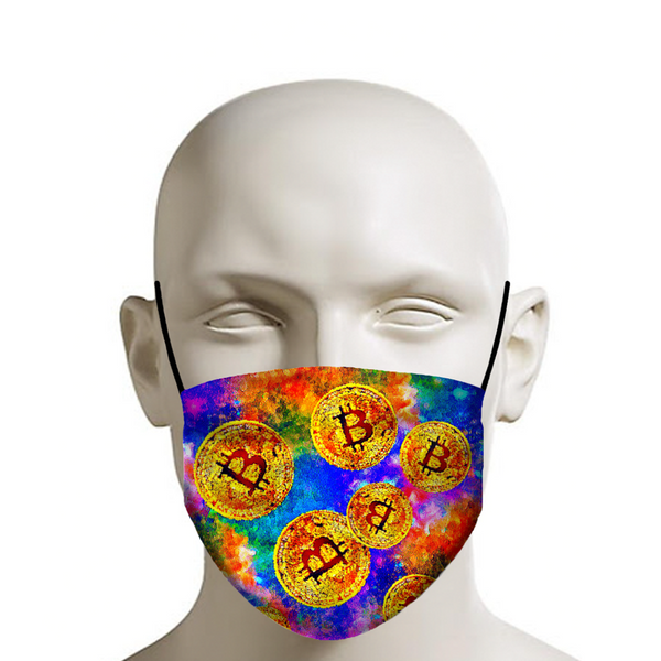 BitFace - Custom Bitcoin Face Mask Graphic Art - Coronavirus, Covid-19, Quarantine, Social Distancing, Protection - JohnnyAppz , BitFace - Custom Bitcoin Face Mask Graphic Art - Coronavirus, Covid-19, Quarantine, Social Distancing, Protection, Fashion Mask