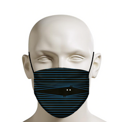 """WATCHING YOU!"" - Custom Face Mask Graphic Art - Coronavirus, Covid-19, Quarantine, Social Distancing, Protection (BLUE) - JohnnyAppz , ""WATCHING YOU!"" - Custom Face Mask Graphic Art - Coronavirus, Covid-19, Quarantine, Social Distancing, Protection (BLUE), Fashion Mask"