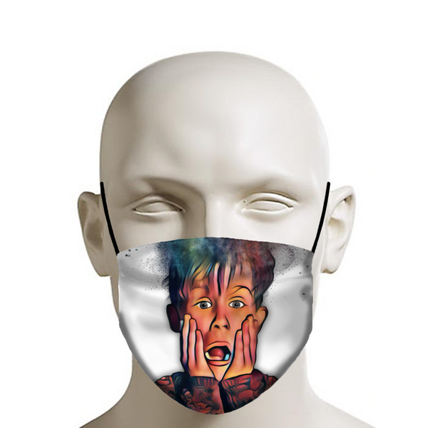 Home Alone Face Mask (white) - JohnnyAppz , Home Alone Face Mask (white), Fashion Mask
