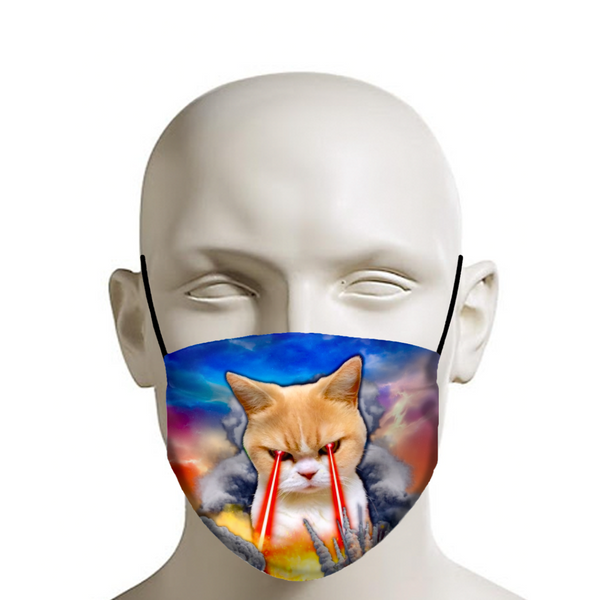 Covid Cat Blaster 2020 Face Mask - JohnnyAppz , Covid Cat Blaster 2020 Face Mask, Fashion Mask