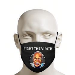 "Mike Tyson Face Mask - Fight The Virus ""Fight The Virith"" - JohnnyAppz , Mike Tyson Face Mask - Fight The Virus ""Fight The Virith"", Fashion Mask"