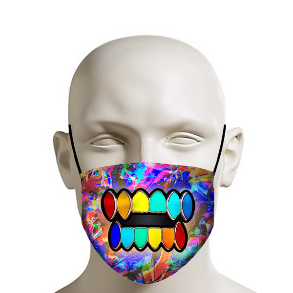 Multicolor Teeth Grill Face Mask - JohnnyAppz , Multicolor Teeth Grill Face Mask, Fashion Mask