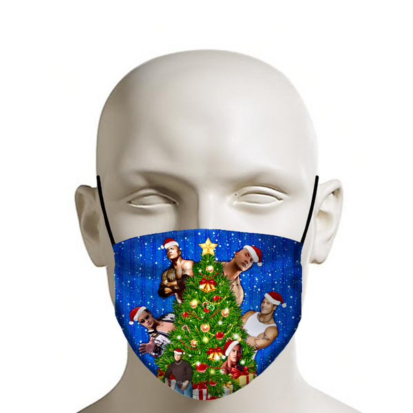 Rock Around The Christmas Tree - Christmas Face Mask - JohnnyAppz , Rock Around The Christmas Tree - Christmas Face Mask, Fashion Mask