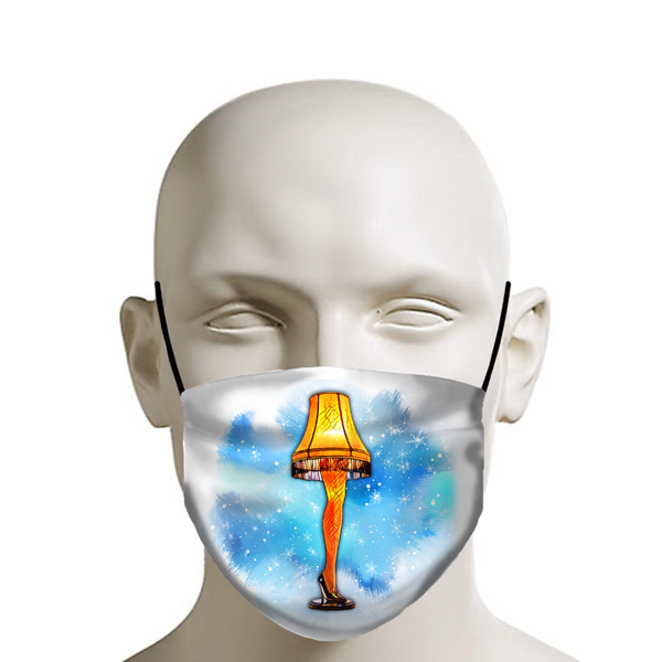 Christmas Story Leg Lamp - Christmas Face Mask - JohnnyAppz