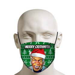 "Mike Tyson ""Merry Crithmith"" - Christmas Face Mask - JohnnyAppz , Mike Tyson ""Merry Crithmith"" - Christmas Face Mask, Fashion Mask"