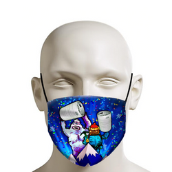 Bumble Keg Party! - Christmas Face Mask - JohnnyAppz , Bumble Keg Party! - Christmas Face Mask, Fashion Mask