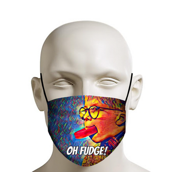 Christmas Story, Oh Fudge - Christmas Face Mask - JohnnyAppz , Christmas Story, Oh Fudge - Christmas Face Mask, Fashion Mask