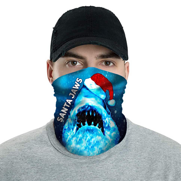 Santa JAWS - Christmas Neck Buff Face Mask - JohnnyAppz