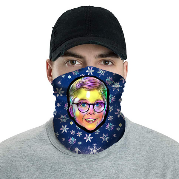 Merry Christmas Ralphie! - Christmas Neck Buff Face Mask - JohnnyAppz