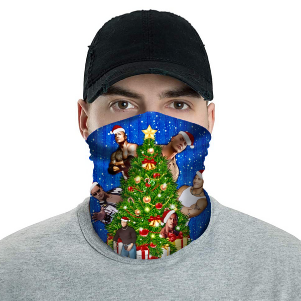 Rock Around The Christmas Tree - Christmas Neck Buff Face Mask - JohnnyAppz