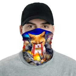 Covid Cat Blaster 2020 - Neck Buff Face Mask - JohnnyAppz , Covid Cat Blaster 2020 - Neck Buff Face Mask, Neck Buff