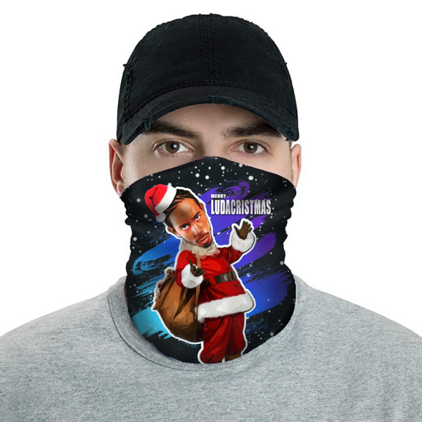 Merry LudaCristmas - Ludacris Christmas Neck Buff Face Mask - JohnnyAppz