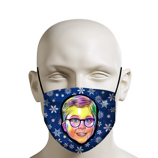 Merry Christmas Ralphie! - Christmas Face Mask - JohnnyAppz