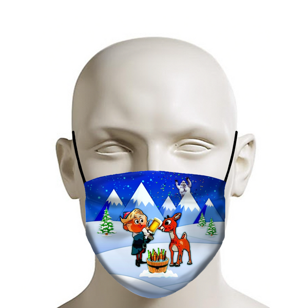 Rudolph the Red-Nosed Rager - Christmas Face Mask - JohnnyAppz , Rudolph the Red-Nosed Rager - Christmas Face Mask, Fashion Mask