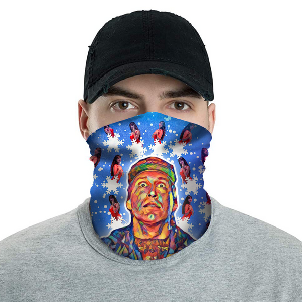 Clark Griswold & The Pool Girl - Christmas Neck Buff Face Mask - JohnnyAppz , Clark Griswold & The Pool Girl - Christmas Neck Buff Face Mask, Neck Buff