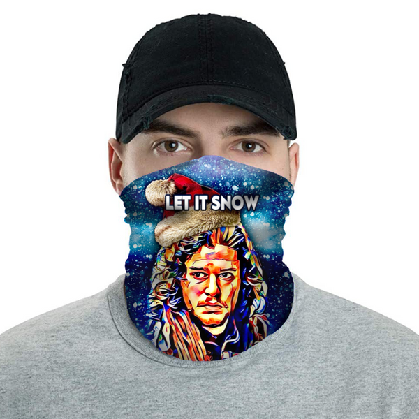 Let it Snow John Snow - Christmas Neck Buff Face Mask - JohnnyAppz