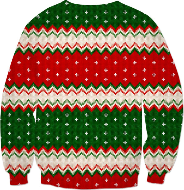 Borat on the Very Niiiice List - Ugly Christmas Sweater - JohnnyAppz , Borat on the Very Niiiice List - Ugly Christmas Sweater, Sweatshirts
