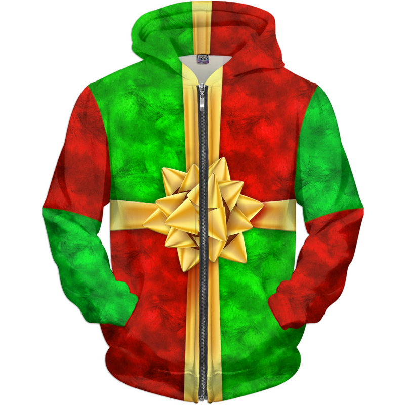 The Christmas Present - Ugly Christmas Sweater, Hoodie Costume - JohnnyAppz , The Christmas Present - Ugly Christmas Sweater, Hoodie Costume, Hoodies