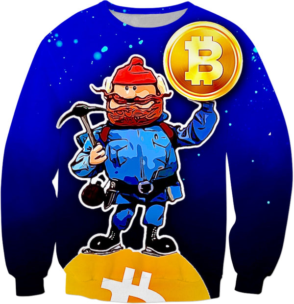 The Bitcoin Miner - JohnnyAppz , The Bitcoin Miner, Sweatshirts