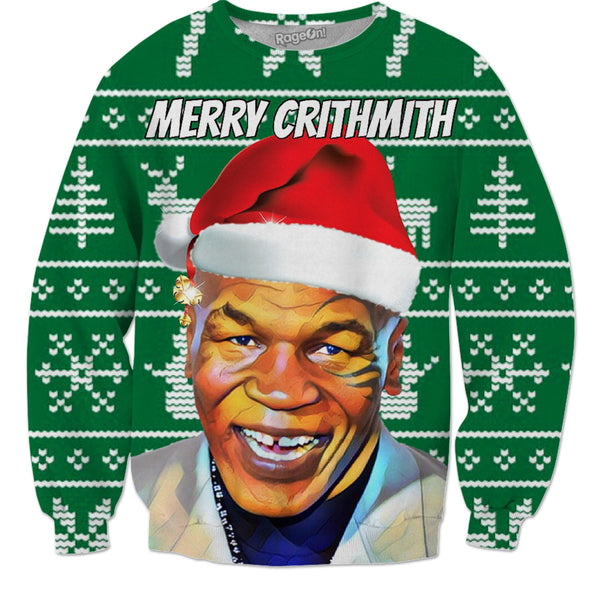Merry Crithmath Tyson - Christmas Sweater - JohnnyAppz , Merry Crithmath Tyson - Christmas Sweater, Sweatshirts