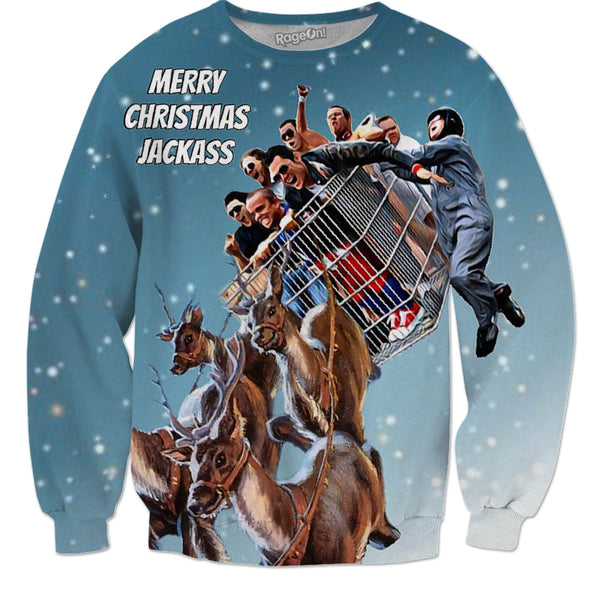 Merry Christmas Jackass, Christmas Sweater - JohnnyAppz , Merry Christmas Jackass, Christmas Sweater, Sweatshirts