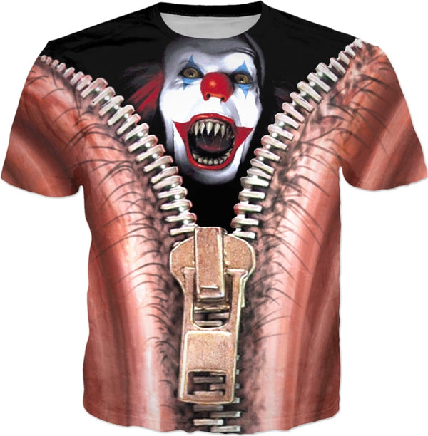 Clown Halloween Suit - JohnnyAppz , Clown Halloween Suit, T-Shirts