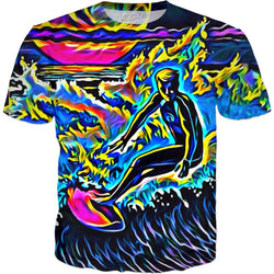 Neon Surf - JohnnyAppz , Neon Surf, T-Shirts