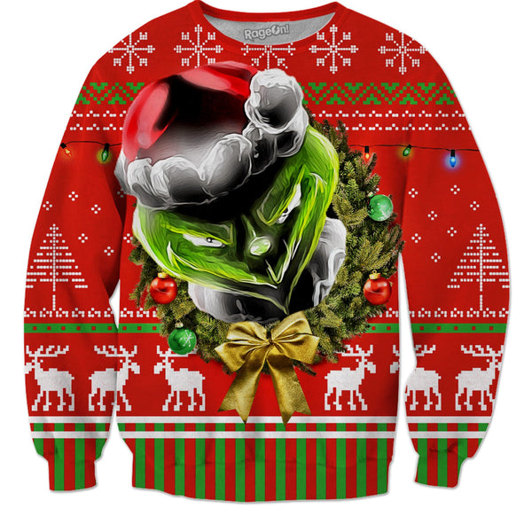 The Grinch Stole Your RageOn Christmas Sweater - JohnnyAppz , The Grinch Stole Your RageOn Christmas Sweater, Sweatshirts