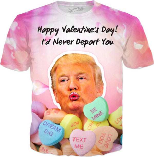 Donald Trump Valentines Day - JohnnyAppz , Donald Trump Valentines Day, T-Shirts