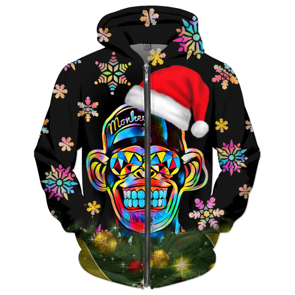 Christmas Color Monkey (Hoodie, Sweatshirt & Many More) - JohnnyAppz , Christmas Color Monkey (Hoodie, Sweatshirt & Many More), Hoodies