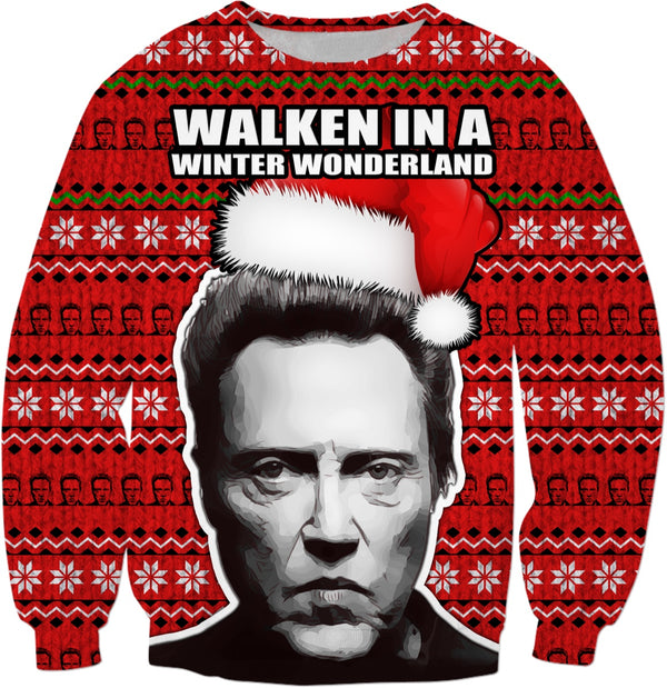 """Walken in a Winter Wonderland"" Christopher Walken Christmas Sweater - JohnnyAppz"