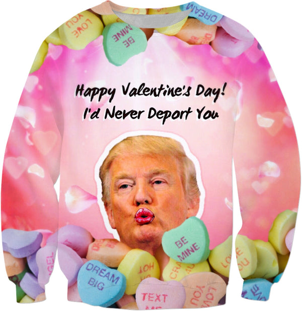 Donald Trump Valentines Day - JohnnyAppz , Donald Trump Valentines Day, Sweatshirts
