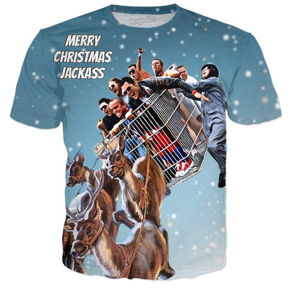 Merry Christmas Jackass (Many Products) - JohnnyAppz , Merry Christmas Jackass (Many Products), T-Shirts