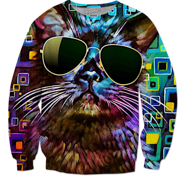 Cool Cat (Sweatshirts & More) - JohnnyAppz , Cool Cat (Sweatshirts & More), Sweatshirts