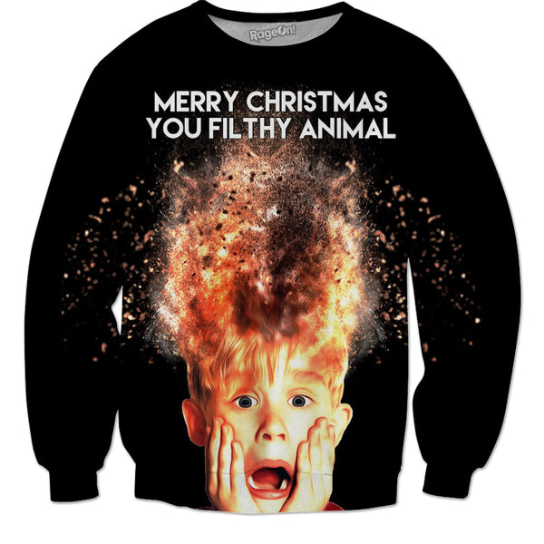 """Merry Christmas You Filthy Animal"" Home Alone - JohnnyAppz , ""Merry Christmas You Filthy Animal"" Home Alone, Sweatshirts"