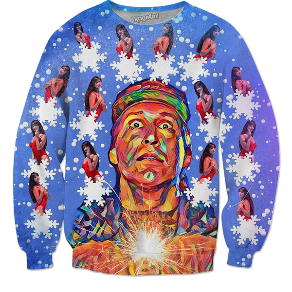 Clark Griswold & The Pool Girl - Christmas Sweater - JohnnyAppz , Clark Griswold & The Pool Girl - Christmas Sweater, Sweatshirts