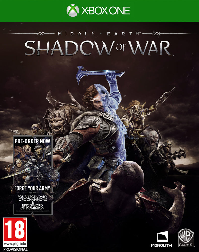 Middle - Earth: Shadow Of War Includes Forge your Army (Xbox One)