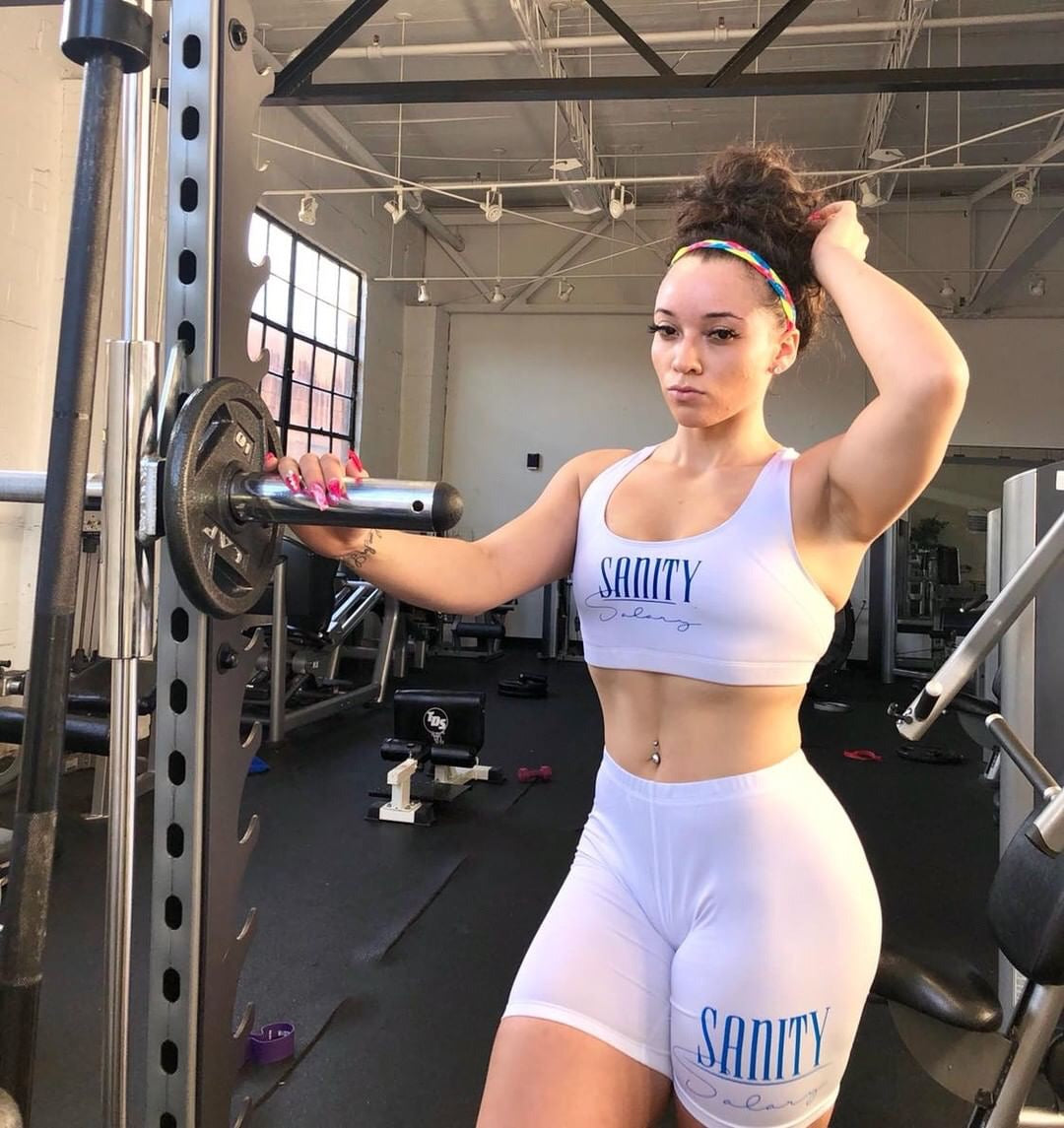 Sports Bra and Long Shorts Combo