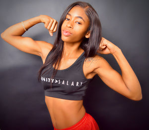 Sanity Over Salary - Sports Bra - Greater Than Logo