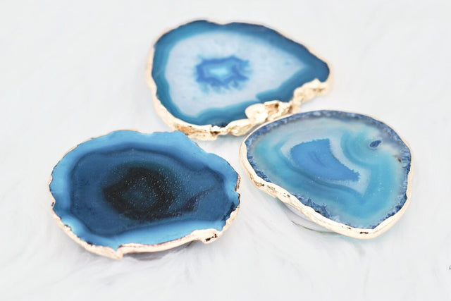 Blue agate phone grips
