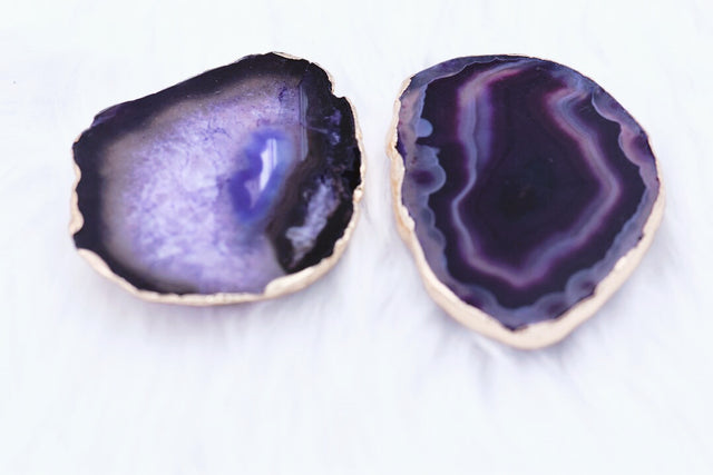 Purple agate phone grips