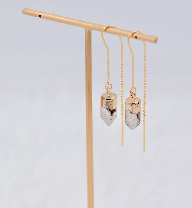Herkimer diamond stringer earrings