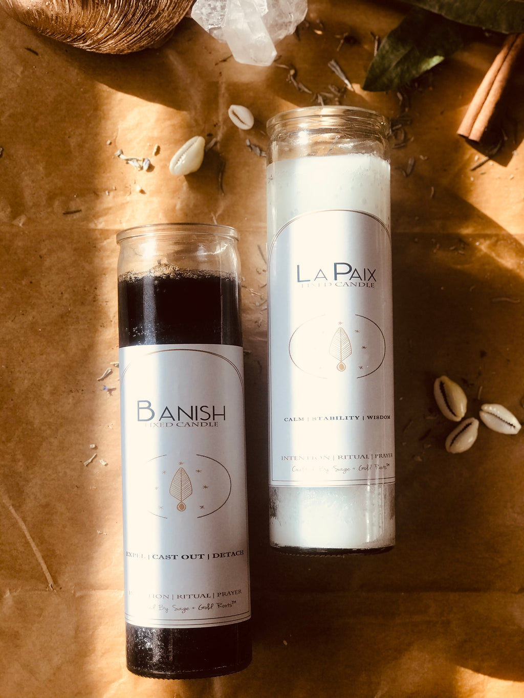 BANISH + PEACE | Fixed Candle Set