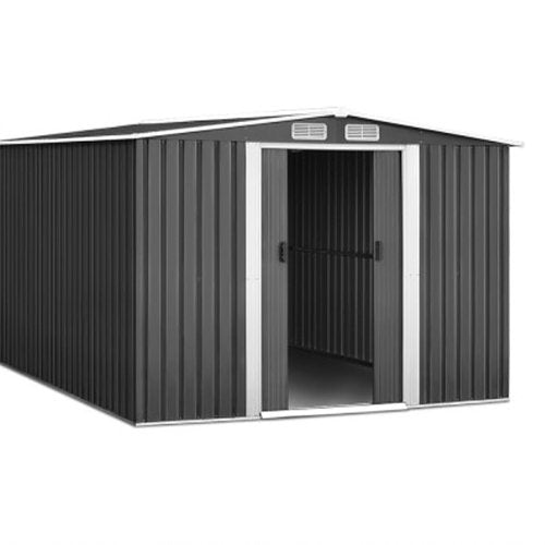 2.57 x 3.12M Garden Shed with Roof - Grey