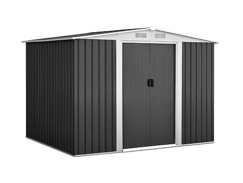 2.05 x 2.57m Steel Garden Shed with Roof