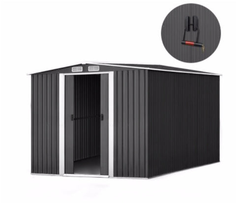 2.6x3.1x2M Shed Metal with Roof