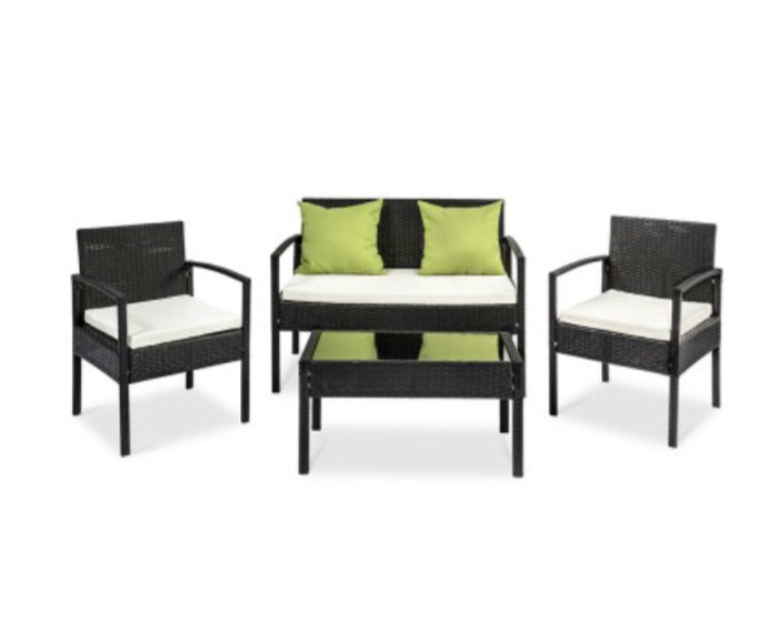 4 piece wicker outdoor